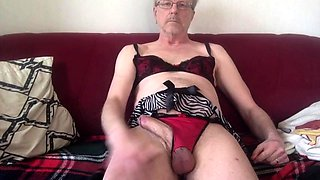 Two amateur crossdressers have a fun in house