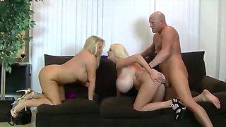 Horny pornstars Karen Fisher and Samantha 38G in exotic milf, big tits xxx movie