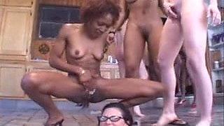 Lesbian Squirting Orgy Bukkake Party