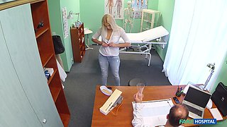 Naughty patient Dominica takas off her panties to ride her doctor