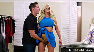 Nicolette Shea is a curvy blonde ready for a big dick