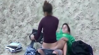Teen couple fucking in beach
