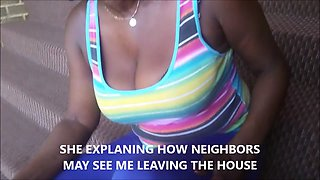 Flirting before the fucking with neighbor Granny