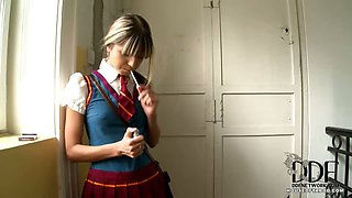 Schoolgirl gets caught smoking