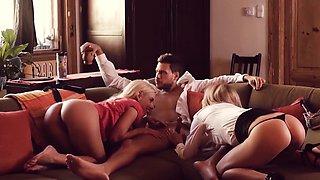 LOS CONSOLADORES - European wives enjoy a cuckold foursome