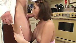 Fabulous pornstar Demi Marx in exotic brunette, facial adult scene