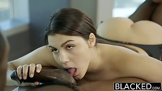 Sexy italian babe rimming black man with passion