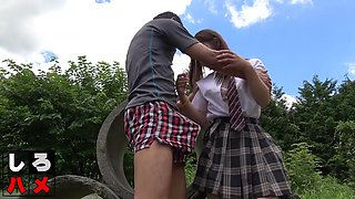 Japanese Schoolgirl Got Banged By Older Brother Outdoors
