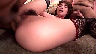 Amazing Japanese girl Kaho Kasumi in Horny Stockings, Gangbang JAV movie