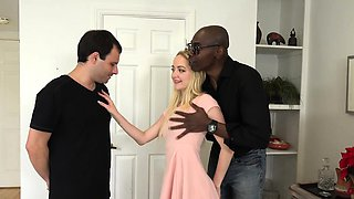 Iris Rose and Her Bitch Husband Suck Big Black Cock