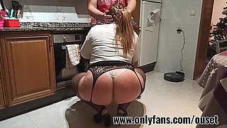 Secretary with awesome ass is caught in the kitchen