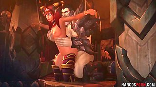 Hot Warcraft babes pussy fucked by evil dudes