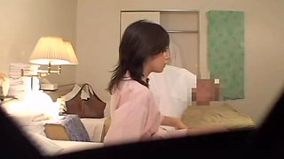 Nice Jap gal crammed by a fat guy in voyeur massage video