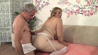Sexy and beautiful blonde plumper crushes her boyfriend's