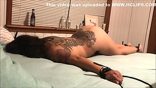 Drunk Latina gets tied up and toyed with!