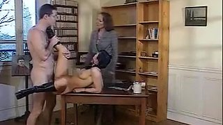 Mature lady gets fisted and fucked. Then she joined her step-daugher