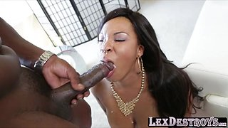 Ebony big tits Aryana Ardin gets destroyed by Lexington Steeles bbc