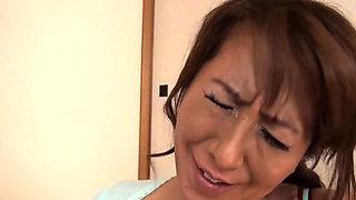 Hawt japanese older gets her milk shakes sucked passionately