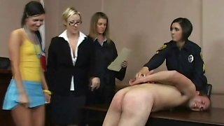 Cfnm femdom sluts facesit their poor victim