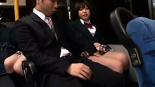 Group fucking and asian school girl blowjob with Aoi
