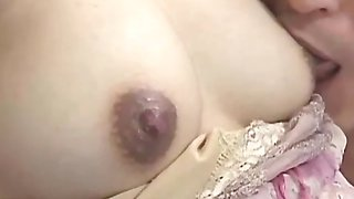 Pregnant japanese babe gets pussy spoiled