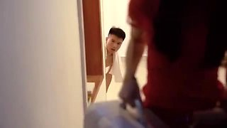 Chinese teen fucked well at home