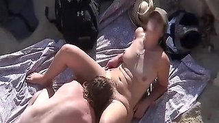 Hairy pussy chick fucked on the beach