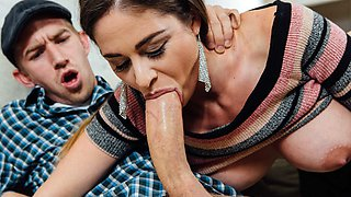 Big tittied Milf Cathy was pounded hard and deep by Danny's hard cock