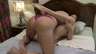 Mommy plays intense with step daughter's soft cunt