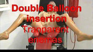 Doule balloon insertion  transparent enemas