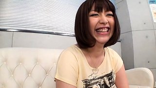 Mom and daughter big milk sacks japanese home trio