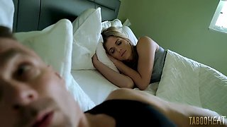 Hot sleep with daughter