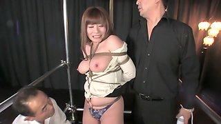 Amazing Japanese whore in Exotic Threesome, Big Tits JAV movie