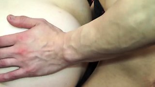 Cute shemale getting her butthole drilled