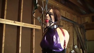 Secretary Head Harness Gagged