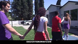 Julie Kay & Maya Kendrick in Hoop Creams - DaughterSwap