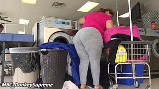 Mexican milf washing clothes