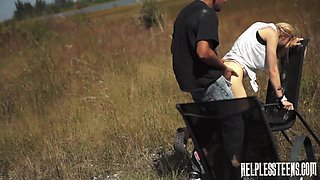 Brutal fuck in the middle of nowhere with voracious Lily Dixon