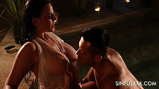 Spicy hot Simony Diamond has got tits for days and she loves romantic sex