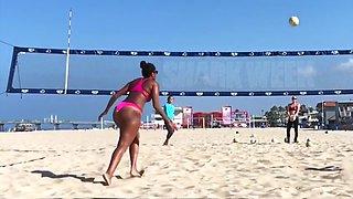 Beach volleyball big ass