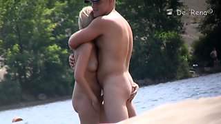 Spy cam has spotted some nude beach sex couple