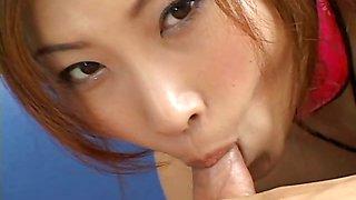 Cum swallowing school girl enjoying the taste of sperm!