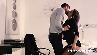 Steamy office affair with the magnificent busty Barbara