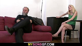 Father punishes son\'s GF