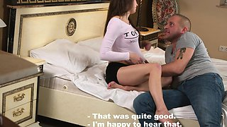 A professional takes virginity of Mirella