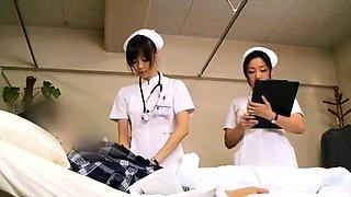 Luscious Japanese nurses working their magic on meat poles