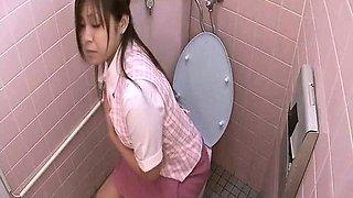 Naugty Girl Masturbate Inside Of Toilet Room