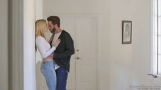 Back massage is turned into steamy pounding from behind for Kenna James