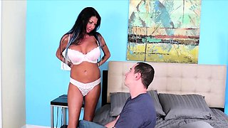 Milf Nadia Night is thrilled to see her step son after a