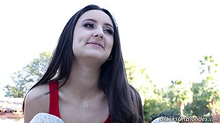 Long haired charming Eliza Ibarra and her really worth checking out xxx interview